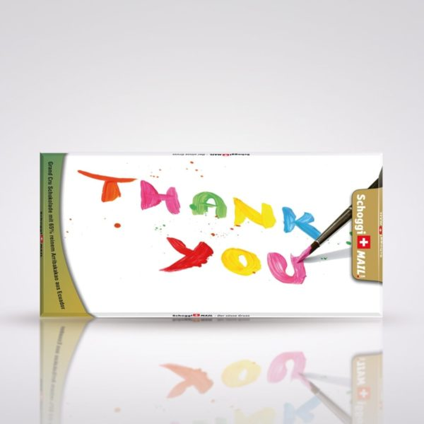 """Thank you"" mit Pinsel - bunt"