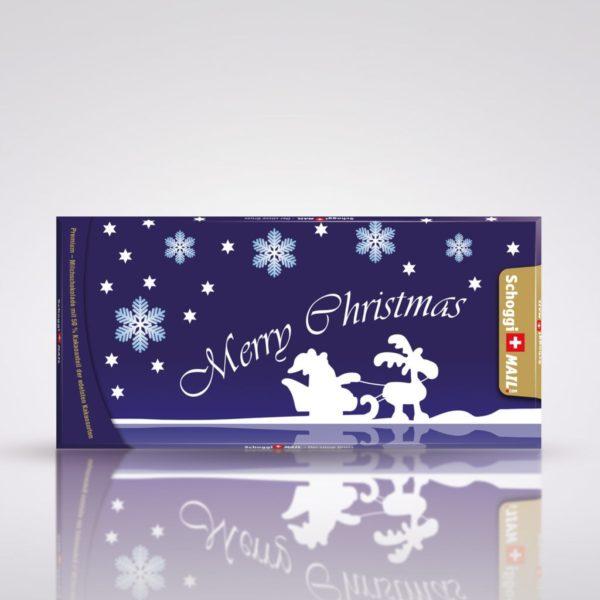 Merry Christmas blau