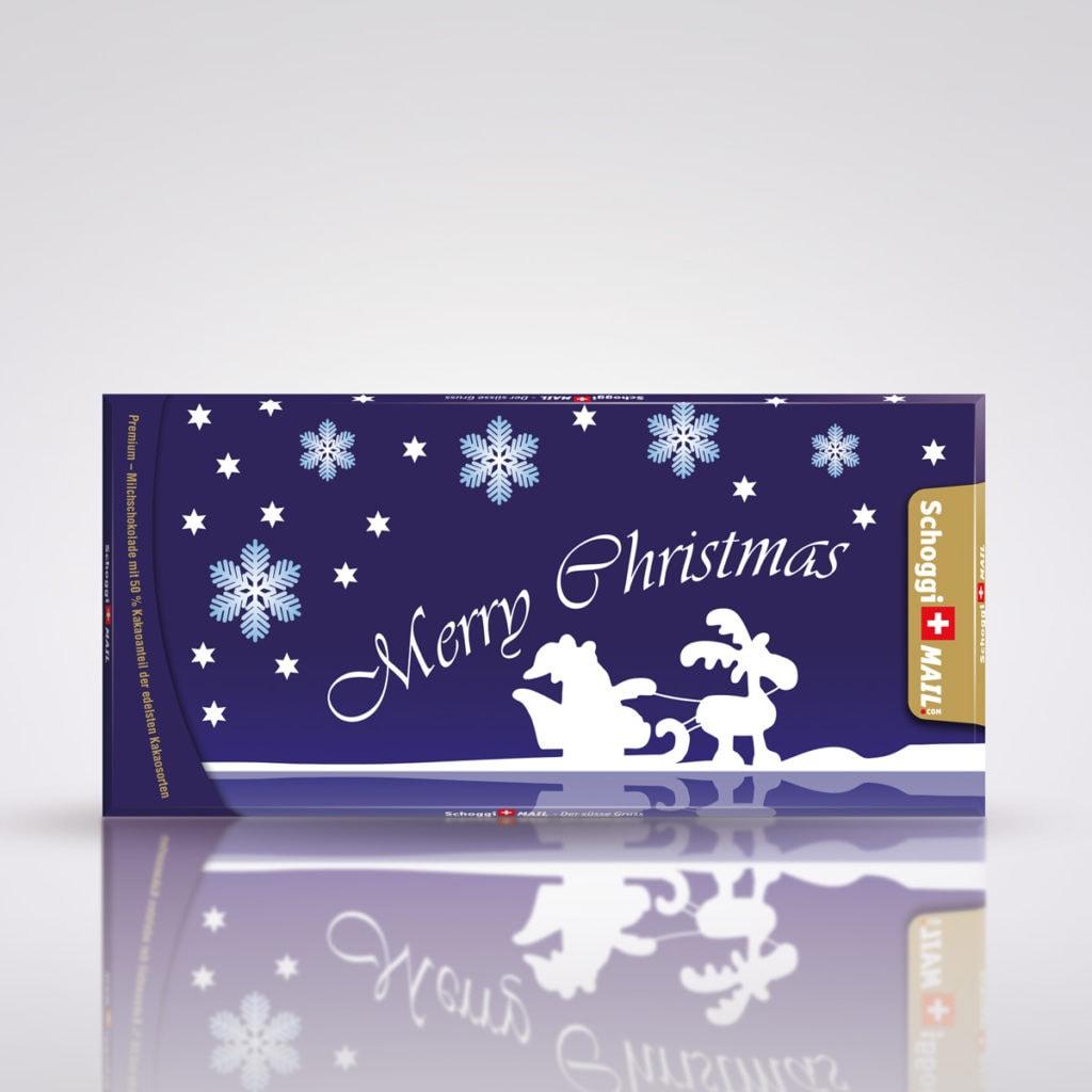 Weihnachten blau